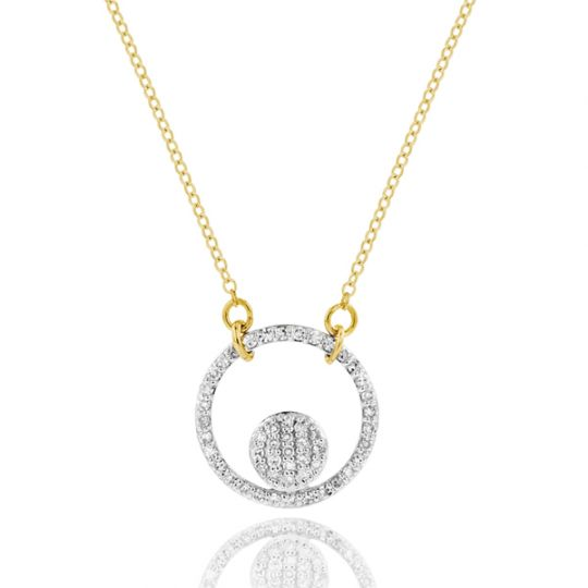 Phillips House 14K Yellow Gold Diamond Pave Infinity Loop Necklace