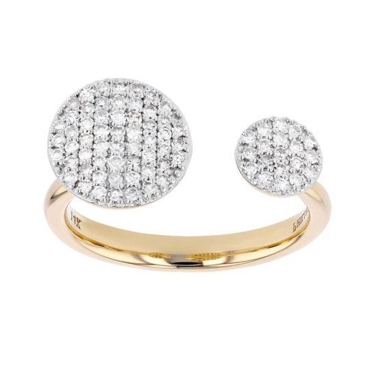 Phillips House 14K Yellow Gold Diamond Button Open Infinity Ring