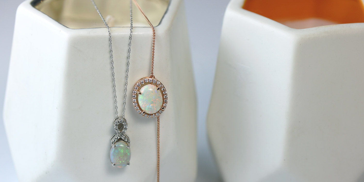 diamond & opal necklaces