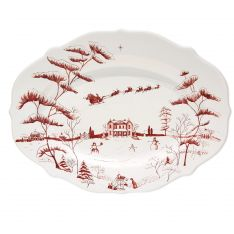 Juliska Country Estate Winter Frolic Ruby Christmas Eve Serving Platter, 15""