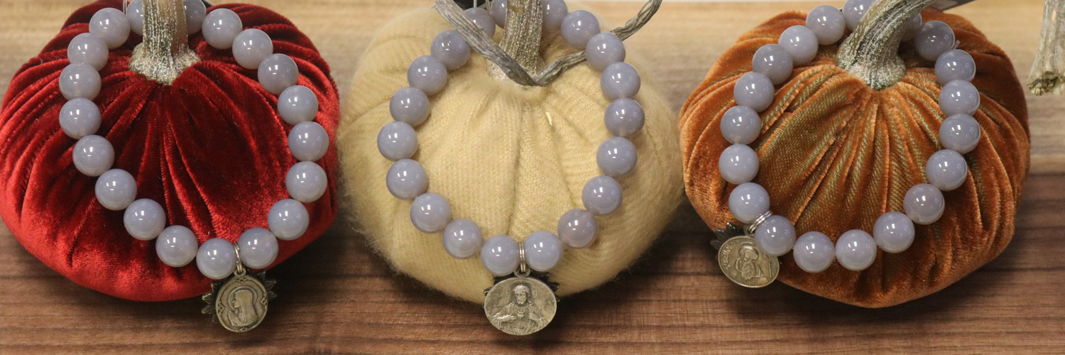 Miracle Icons gray agate bracelets and Hot Skwash velvet pumpkins