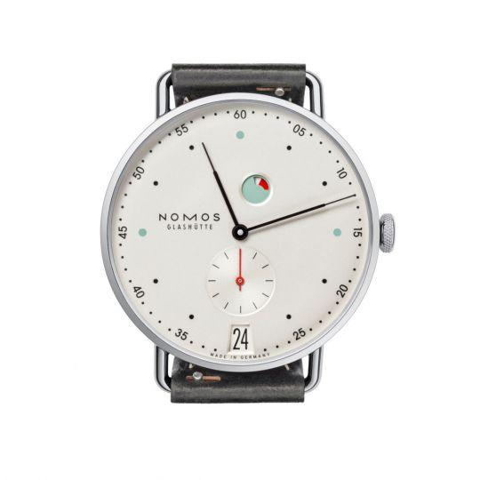 Nomos Glashutte Metro Datum Gangreserve 37mm Men's Watch