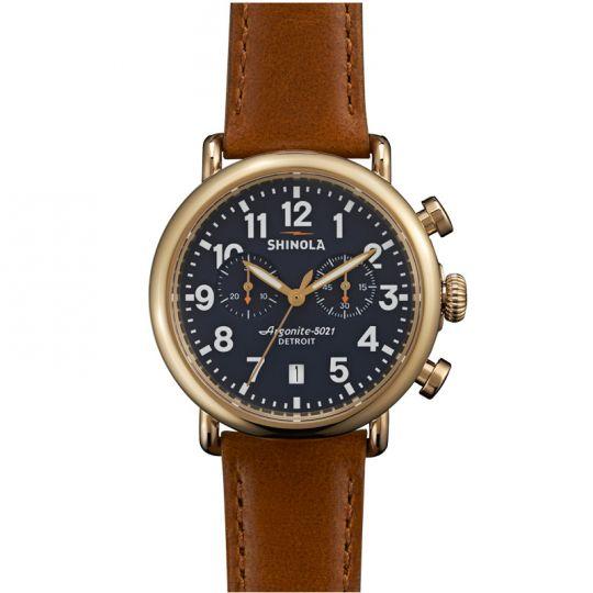 Shinola Runwell 41mm Watch, Blue Dial