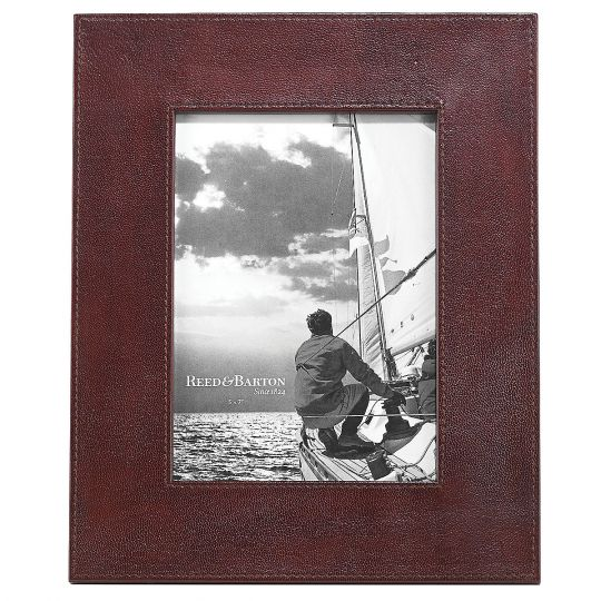 Reed & Barton Hudson Leather Frame, 5x7