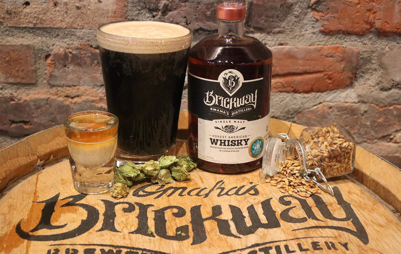 omaha early riser, brickway coffee vanilla bean stout, baileys and single malt whiskey