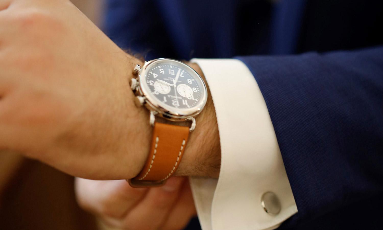 watch and cufflinks