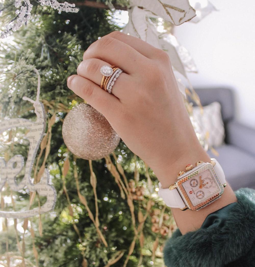 Michele Deco Carousel Two-Tone Diamond Watch