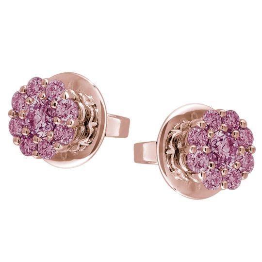 Alessandra Dona Rhodolite Garnet Cluster Stud Earrings in Rose Gold