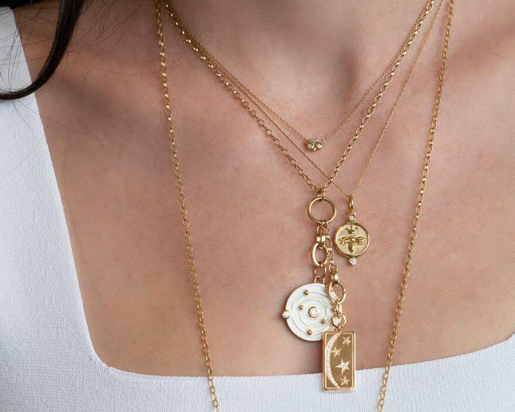 monica rich kosann charm necklaces