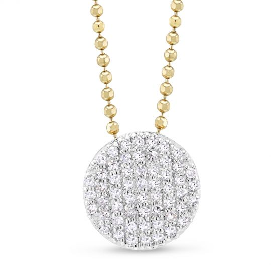 phillips house diamond disc pendant
