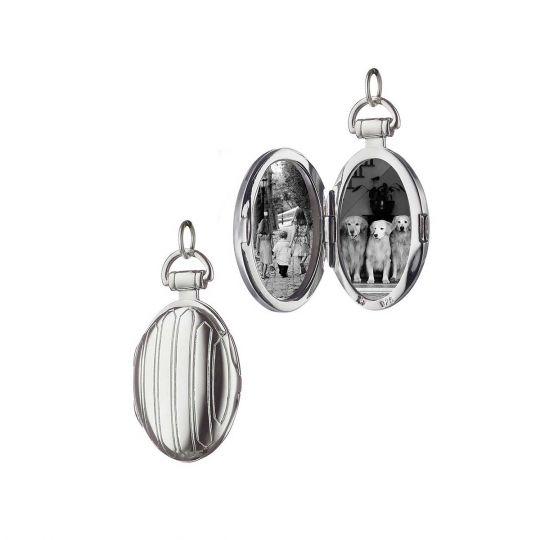 sterling silver pinstripe locket