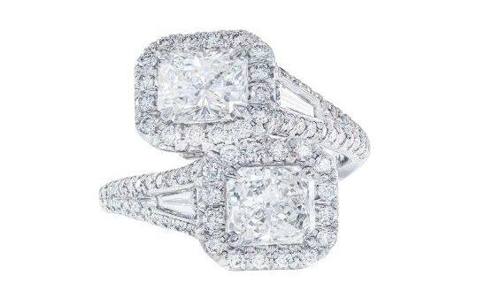 jb star bypass diamond ring