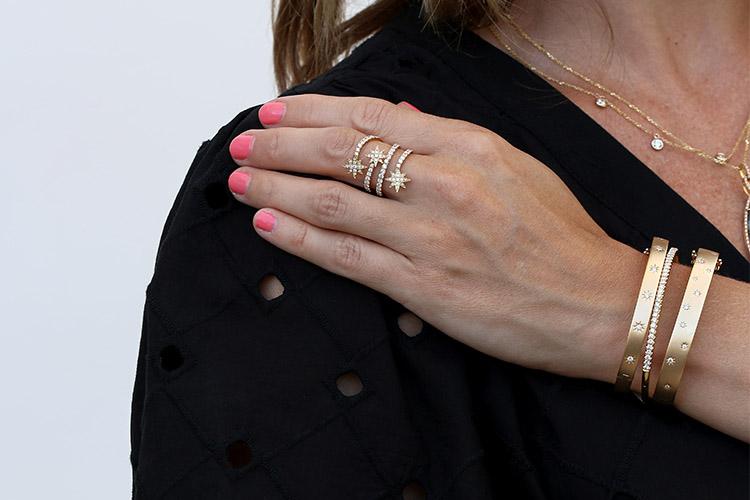 celestial bracelets and ring