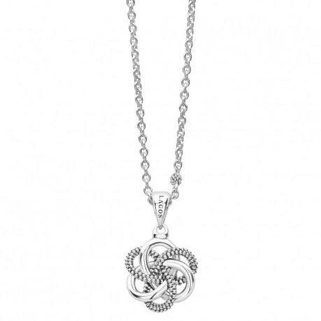 lagos caviar love knot pendant