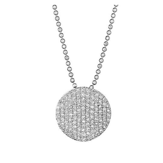 diamond disc necklace