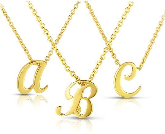 roberto coin yellow gold initial pendant