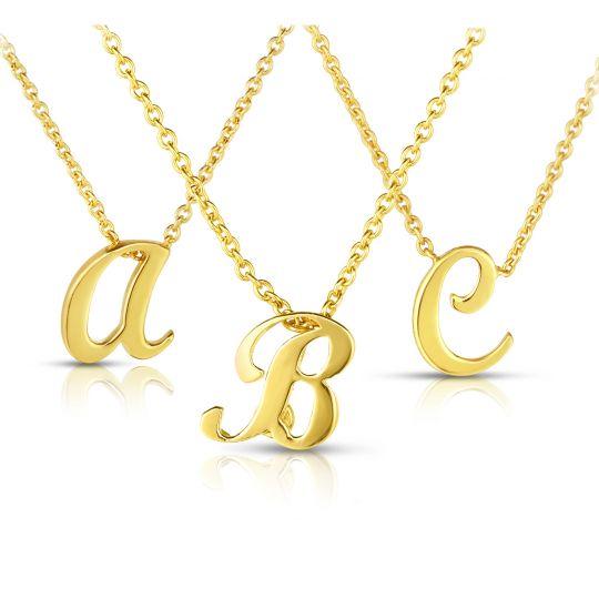 roberto coin yellow gold initial pendant
