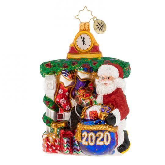 christopher radko santa 2020 ornament