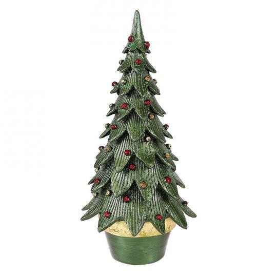 green cone christmas tree decoration