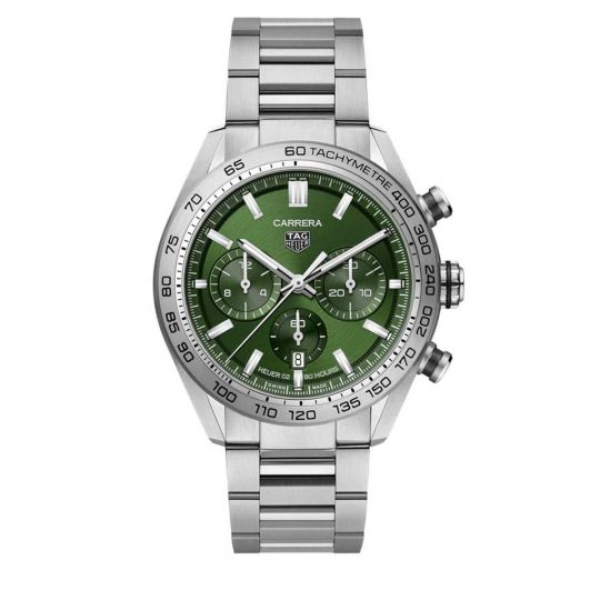 tag heuer carrera green dial watch