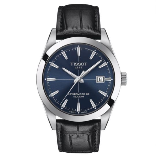 tissot gentleman watch with blue dial