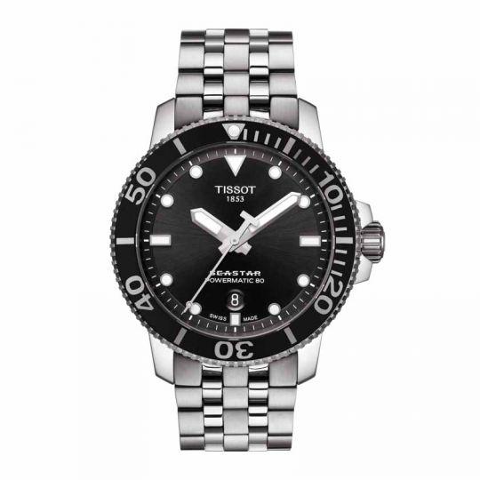 tissot seastar watch black dial