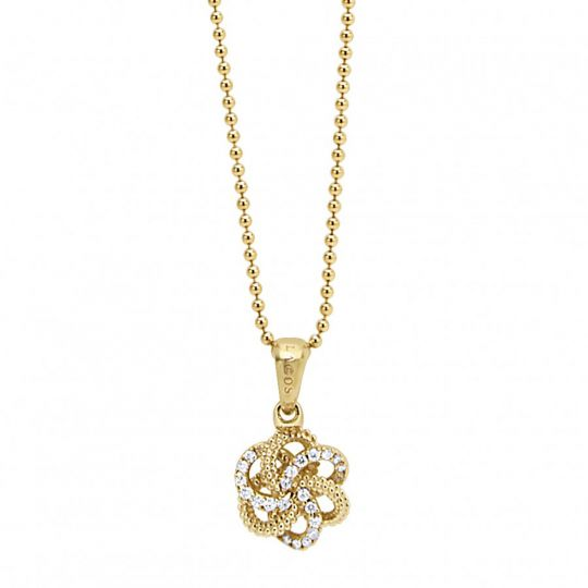 lagos love knot pendant necklace