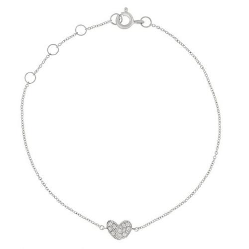 diamond heart bracelet