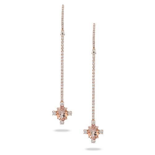 morganite drop earrings