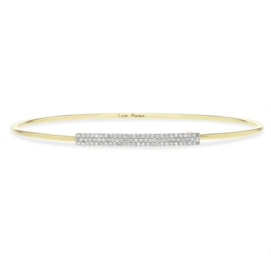 diamond bar bracelet in yellow gold