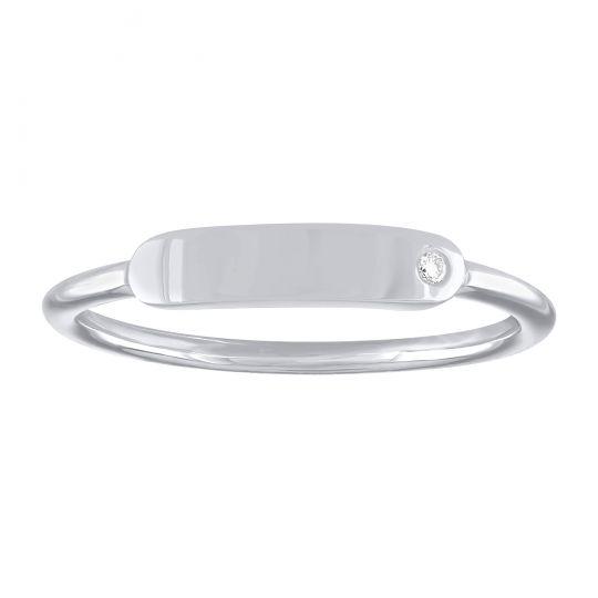 white gold signet ring