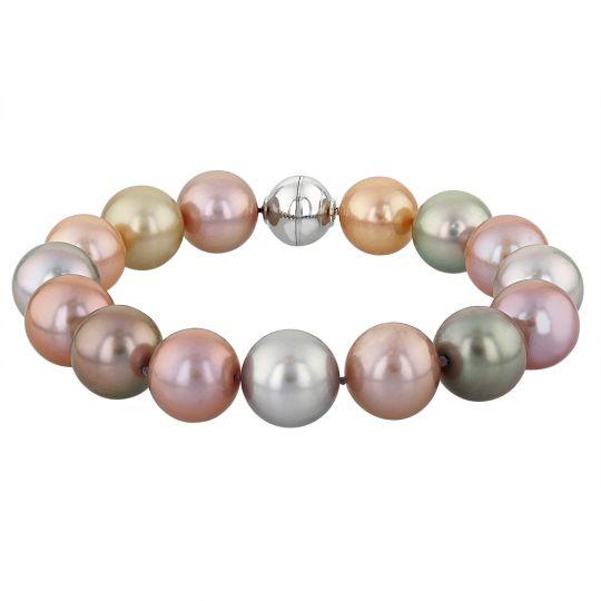 black tahitian and south sea pearl bracelet