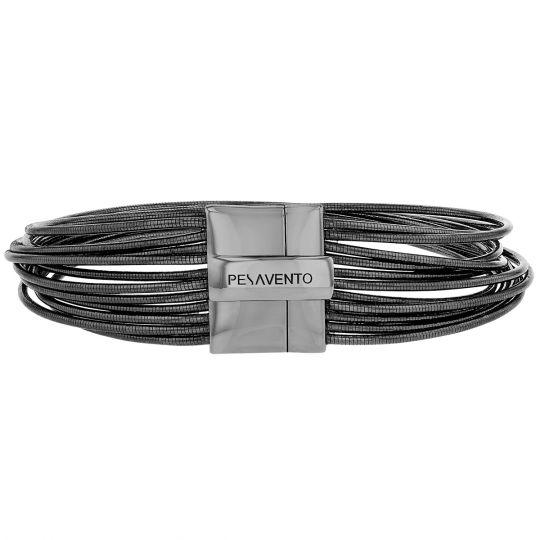 spring ruthenium bracelet with magnetic clasp