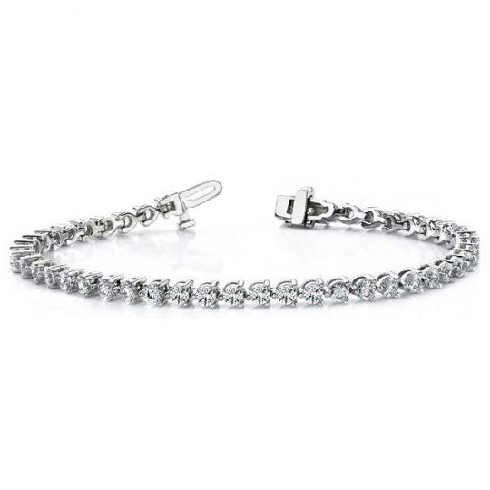 white gold diamond tennis bracelet with box clasp
