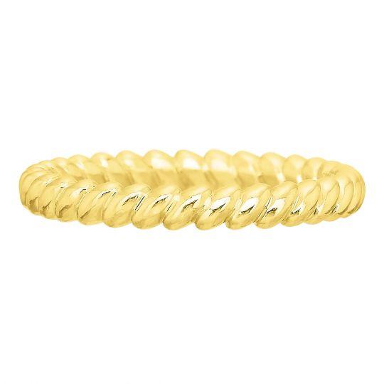 yellow gold rope pattern wedding band