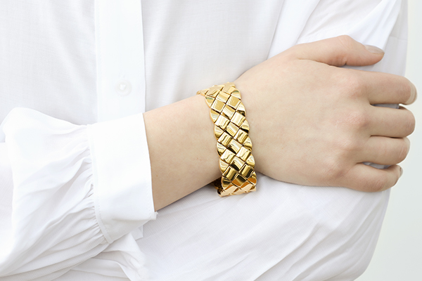 thick metal bracelet