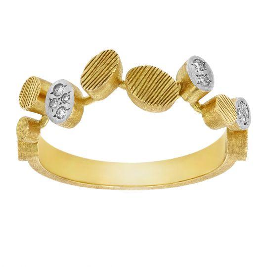 Luisa Rosas Multi Textured Oval Ring