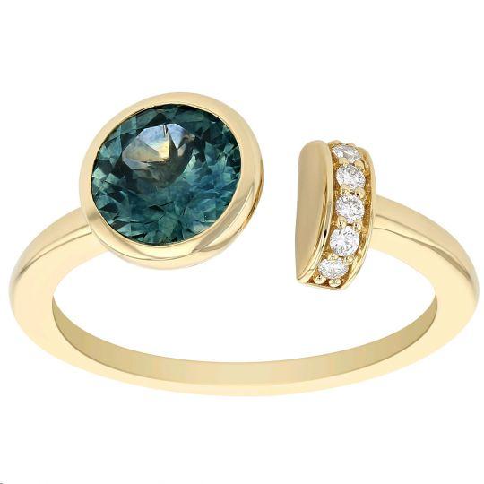 Montana Sapphire and Diamond Open Ring