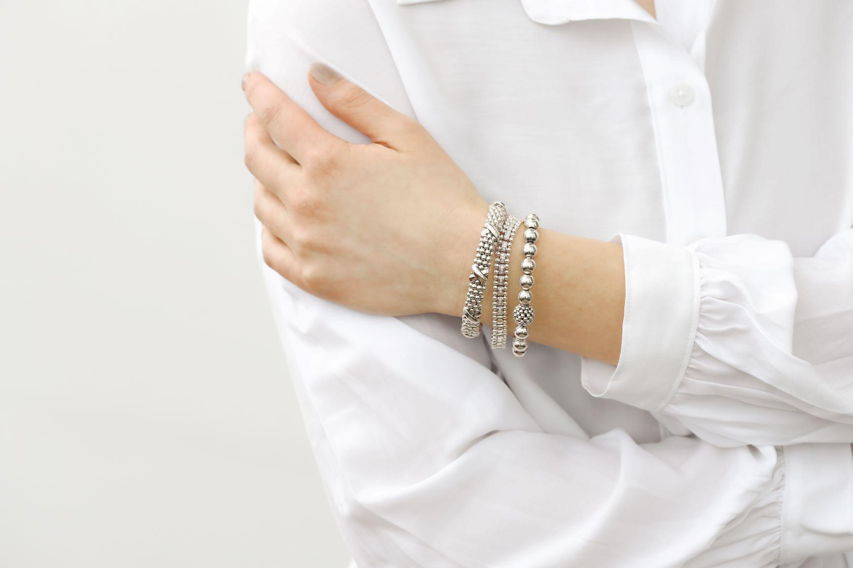 Lagos Silver Bracelet Stack