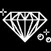 Diamond with soap bubbles