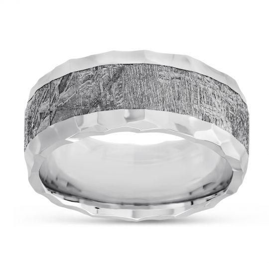 Cobalt Chrome & Meteorite Wedding Band, 9mm