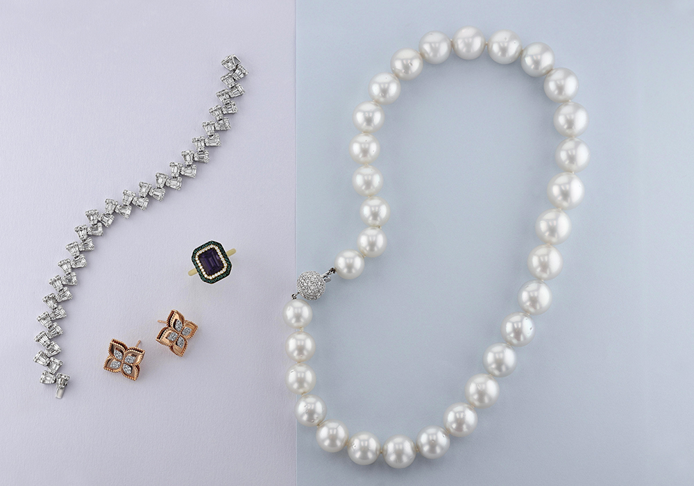 pearl diamond and gemstone jewelry