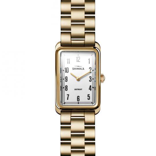 Shinola Muldowney 24 x 32mm Watch, White Dial | Borsheims