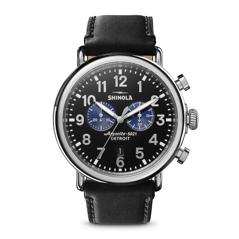 44a8bf3e9 Shinola Runwell Chrono Black Watch with Blue Subdials | Borsheims