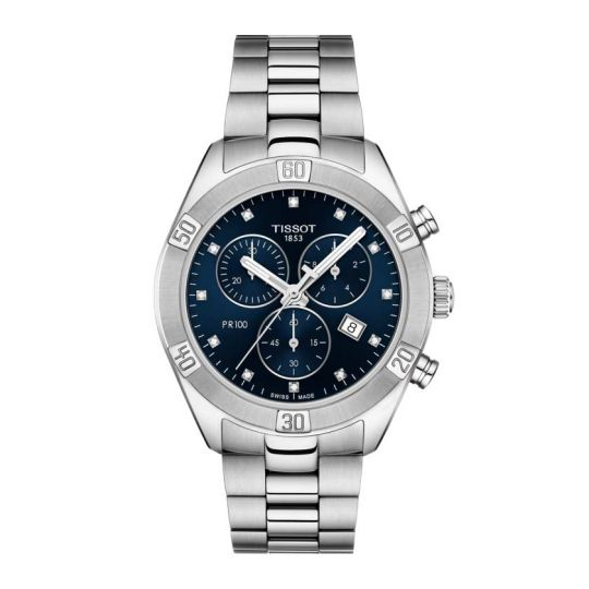Tissot P 100 Sport Chic Chronograph Blue Dial