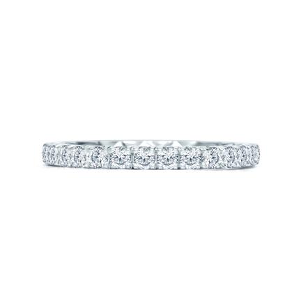 930946b813815 A. Jaffe 14K White Gold Diamond French Pave Wedding Band