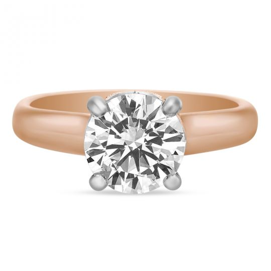 c1cc0a3e2f0 Precision Set 18K Rose Gold Diamond Gallery Flush Fit Ring Mounting ...
