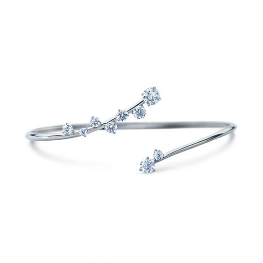 46bcf384c377 Atelier Swarovski DIAMA White Gold Signature Swarovski Created Diamond Bolo  Bracelet
