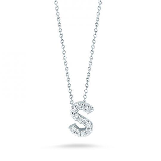 Roberto coin 18k white gold diamond love letter s pendant 18 roberto coin 18k white gold diamond love letter s pendant 18 aloadofball Image collections