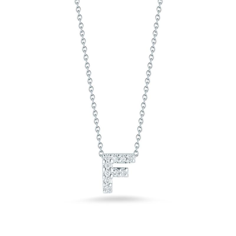 Roberto coin 18k white gold diamond love letter f pendant 18 roberto coin 18k white gold diamond love letter f pendant 18 aloadofball Image collections
